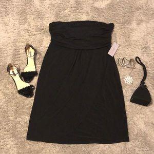 Black strapless Jennifer Lopez cocktail dress